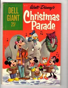 Dell Giant # 26 FN- Walt Disney's Christmas Parade Comic Book Mickey Donald JL10