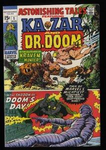 Astonishing Tales #1 VF 8.0 Ka Zar Doctor Doom!