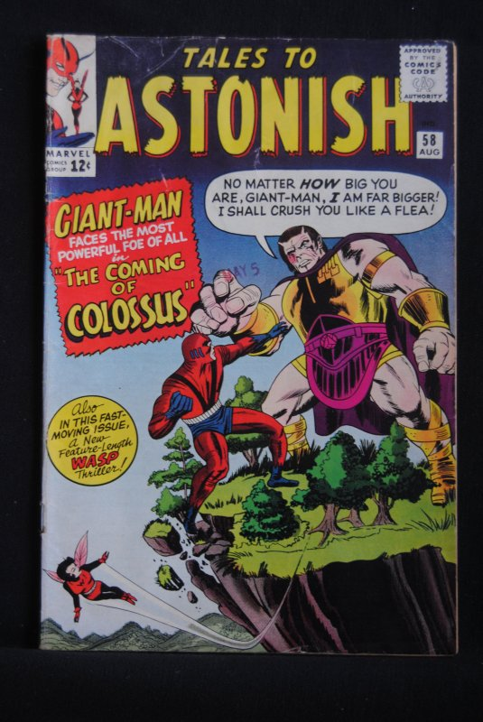 Tales to Astonish #58, 6.0 FN, Ditko art, Kirby Cover