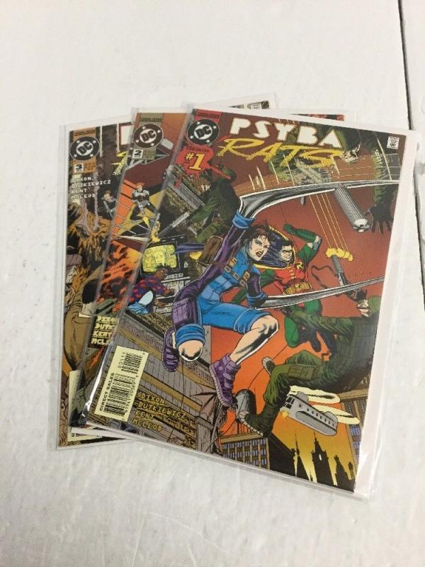 Psyba Rats 1-3 Lot Set Run Nm Near Mint DC Comics IK