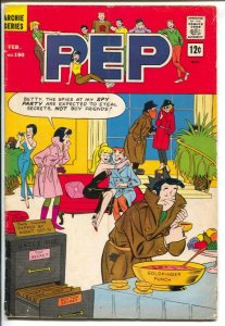 Pep Comics #190 1966- Archie- Betty & Veronica-spy party cover-VG