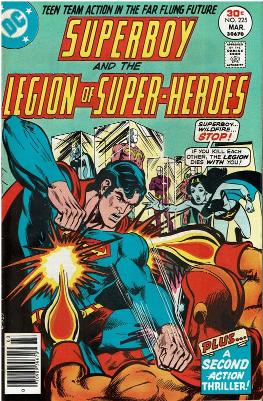 Superboy and the Legion of Super Heroes #225, 5.0 or better