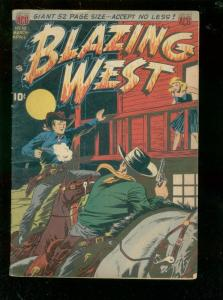 BLAZING WEST #1 1950-BUFFALO BELLE-INJUN JONES-GUNFIGHT FN
