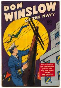 Don Winslow Comics #50 1947- 1st SNAKE- Golden Age FN+