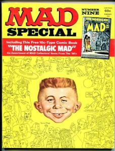 MAD SPECIAL #9-INCLUDES BONUS NOSTALGIC MAD #1 COMIC-MINGO-SEVERIN-1973-vf
