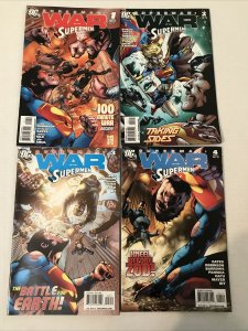Superman: War Of The Supermen Lot Of 4 #1-4 Complete Series