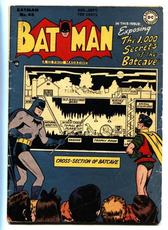 Batman #48 comic book 1,000 Secrets of the Batcave-DC Golden-Age