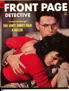 Front Page Detective-2/1954-Murder-Killer-Execution-VG