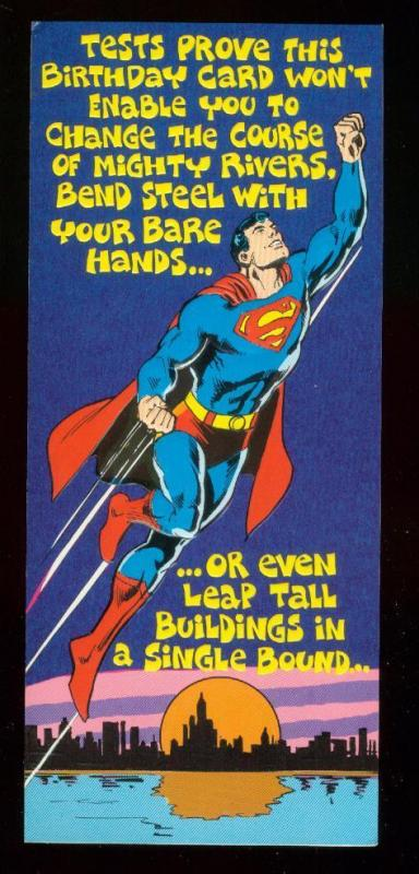 NEAL ADAMS SUPERMAN  BIRTHDAY CARD #11 1978 NM
