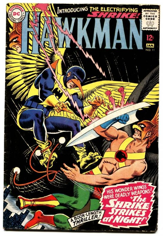 HAWKMAN #11 comic book 1966-FIRST SHRIKE-SILVER AGE DC-12 cent