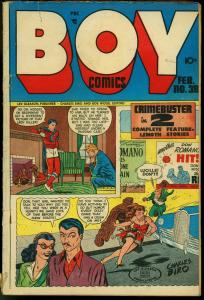 BOY COMICS #38-CHARLES BIRO-CRIME-ACTION VG