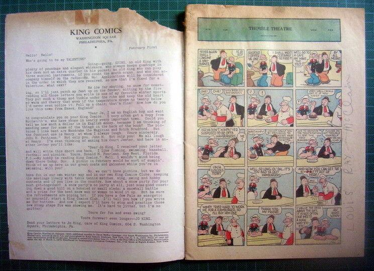 King comics 35 Popeye year 1939