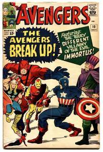 Avengers #10 1964 Marvel Captain America Giant-Man Thor Iron Man-fn+