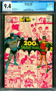 Batman #200 CGC Graded 9.4 Scarecrow appearance. Penguin, Killer Moth and Jok...