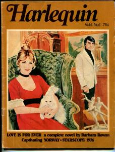 Harlequin Vol. 4 #1 1975-romantic pulp fiction-based on paperback books-VG