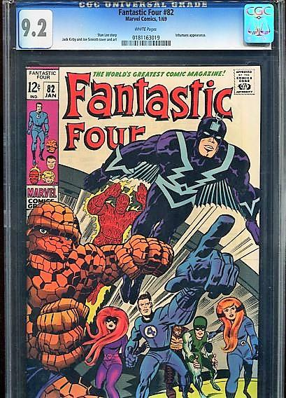 FANTASTIC FOUR  #82  CGC 9.2  ( NM-)   (1969) WHITE PAGES  HIGH GRADE BEAUTY
