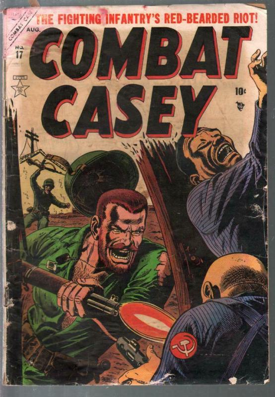 Combat Casey #17 1954-Atlas-Violent Korean War stories-pre-code-G