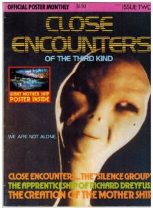 CLOSE ENCOUNTERS OFFICIAL POSTER MONTHLY 2 F-VF ( 1.50