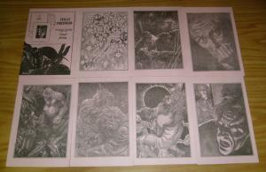 Virgil Finlay's Portfolio VF/NM set of 8 plates - extremely limited - very rare
