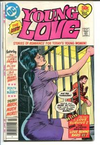 YOUNG LOVE #124-DC ROMANCE-WOMAN IN PRISON JAIL COVER FN