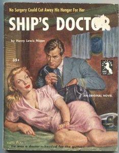 STALLION BOOKS-SHIP'S DOCTOR #209-1954-SPICY WALTER POPP COVER ART
