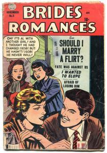 Brides Romances #8 1954- Should I Marry a Flirt? Golden Age VG