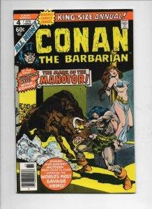 CONAN the BARBARIAN #4 Annual, VF/NM, Robert Howard, Buscema, 1978 more in store