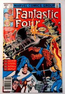 Fantastic Four #219 Marvel 1980 VF- Bronze Age Comic Book 1st Print