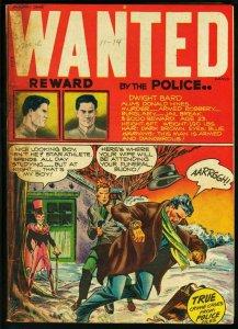 WANTED COMICS #11 VIOLENT CRIME COVER 1948 VG