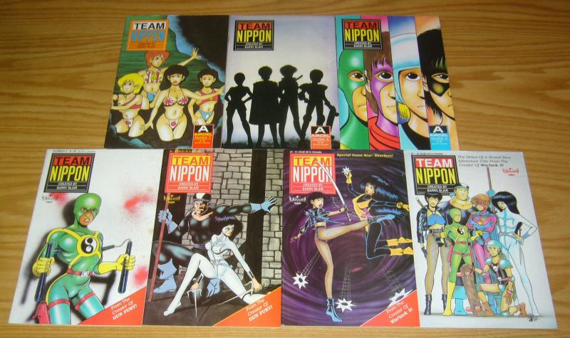 Team Nippon #1-7 VF/NM complete series - aircel comics - barry blair 2 3 4 5 6