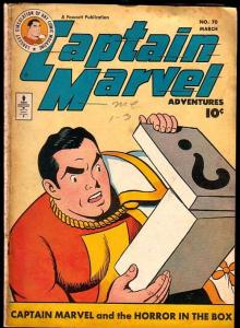 CAPTAIN MARVEL ADVENTURES #70-THE HORROR IN THE BOX VG+