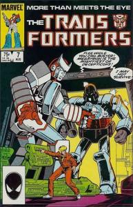 Marvel THE TRANSFORMERS (1984 Series) #7 VF