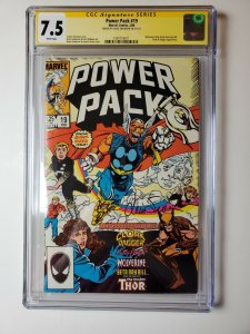 Power Pack #19 CGC 7.5 Signed By Louise Simonson