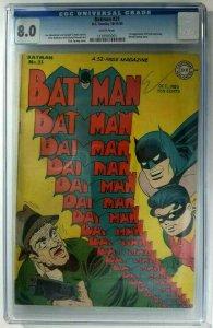 Batman #31~1945 DC~CGC 8.0 (VF)~1st App. of Punch & Judy