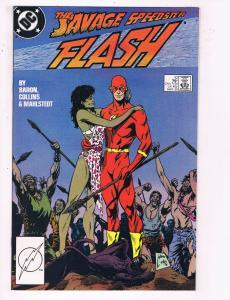 Flash #10 VF DC Comics TV Show Comic Book JLA Superman 1988 DE22