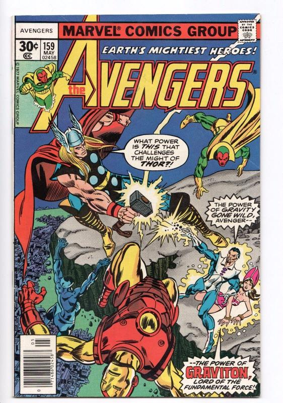 Avengers #159 - Thor & Black Panther Join Team (Marvel, 1977) FN+
