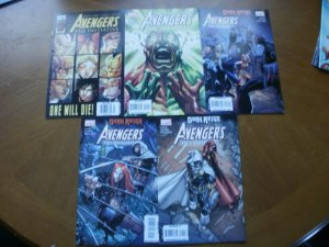 5 Marvel Comic: AVENGERS THE INITIATIVE #10 #19 #23 #24 #25 (Secret Dark Reign)