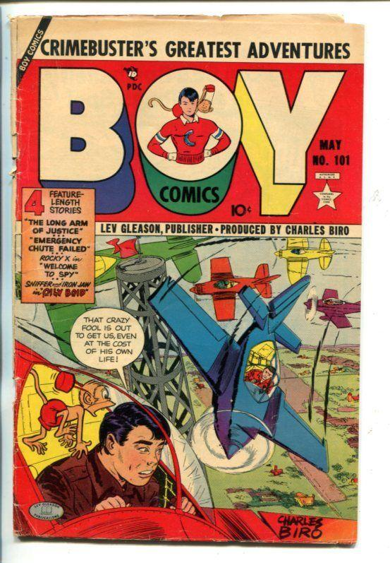 BOY #101-1954- AIR RACE COVER-IRON JAW-ROCKY X-vg