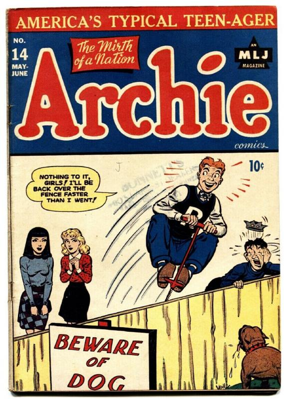 Archie #14 1945-MLJ Betty and Veronica Jughead Rare Early issue