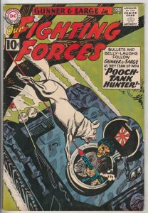 Our Fighting Forces #63 (Oct-61) VF+ High-Grade Gunner and Sarge, Pooch