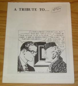 A Tribute To Alex Raymond #1 VF four page fanzine with photo in marine uniform