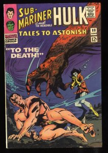 Tales To Astonish #80 FN/VF 7.0 White Pages Sub-Mariner and the Hulk!