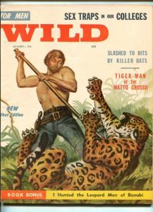WILD #1-OCT 1957-VERY RARE TITLE-TOGA PARTIES-SOUTHERN STATES-vf minus