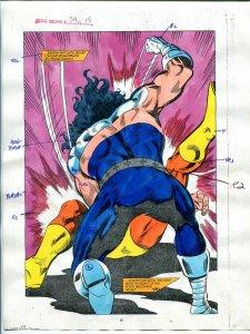 Justice Machine #24 Page #15 1988 Original Color Guide