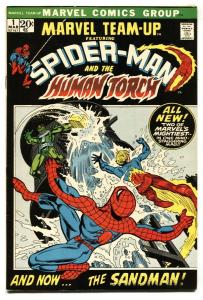 Marvel Team-Up #1 Spider-man- Human Torch 1972  VF