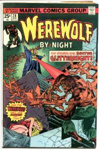 WEREWOLF by NIGHT #28, FN-, Wolf, Don Perlin,GlitterNight, 1972,more WW in store