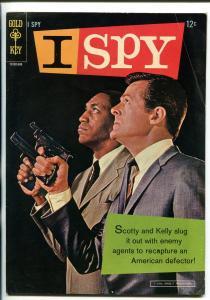 I SPY #1  1966-GOLD KEY-1ST ISSUE-ROBERT CULP-BILL COSBY-TV PHOTO COVER-vg+
