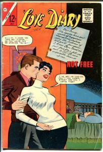 Love Diary #28 1963-Charlton-headlight cover-spicy art-VG