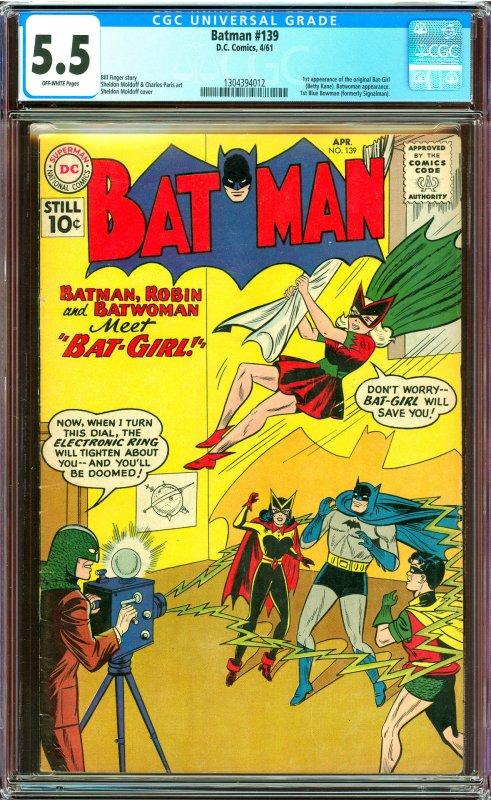 Batman #139 CGC Graded 5.5 1st Original Bat-Girl (Betty Kane)