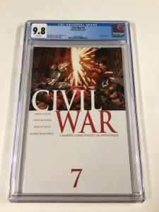 Civil War 7 Cgc 9.8 White Pages